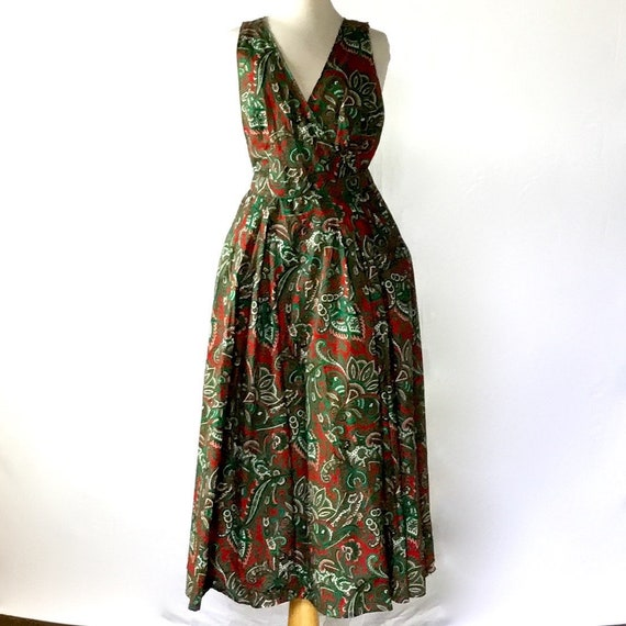 Vintage 1950s Paisley Halter Dress