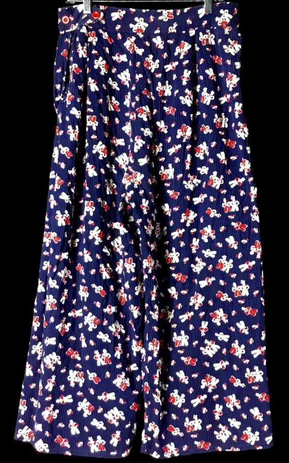 Vintage 1940s Sailor Print Ladies Pants