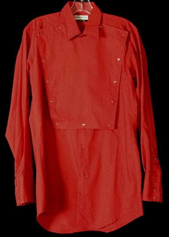 Vintage 1980s Red Cowboy Shirt