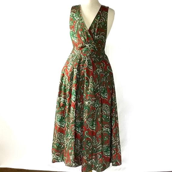 Vintage 1950s Paisley Halter Dress - image 2