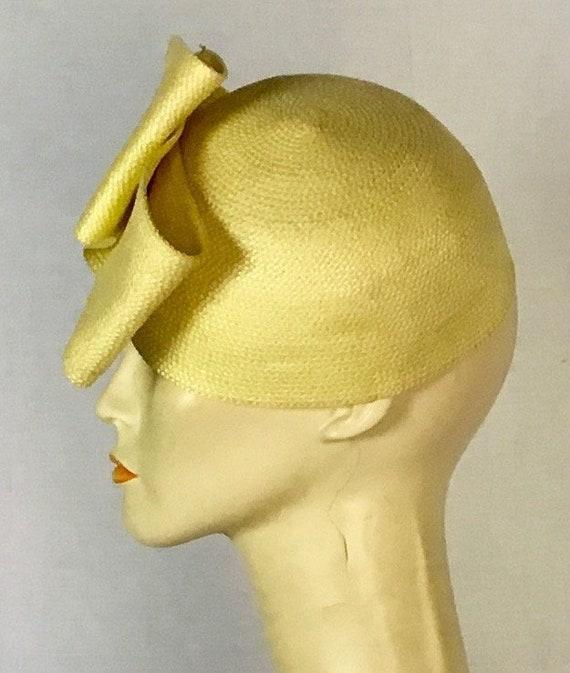 Vintage Yellow Straw Hat