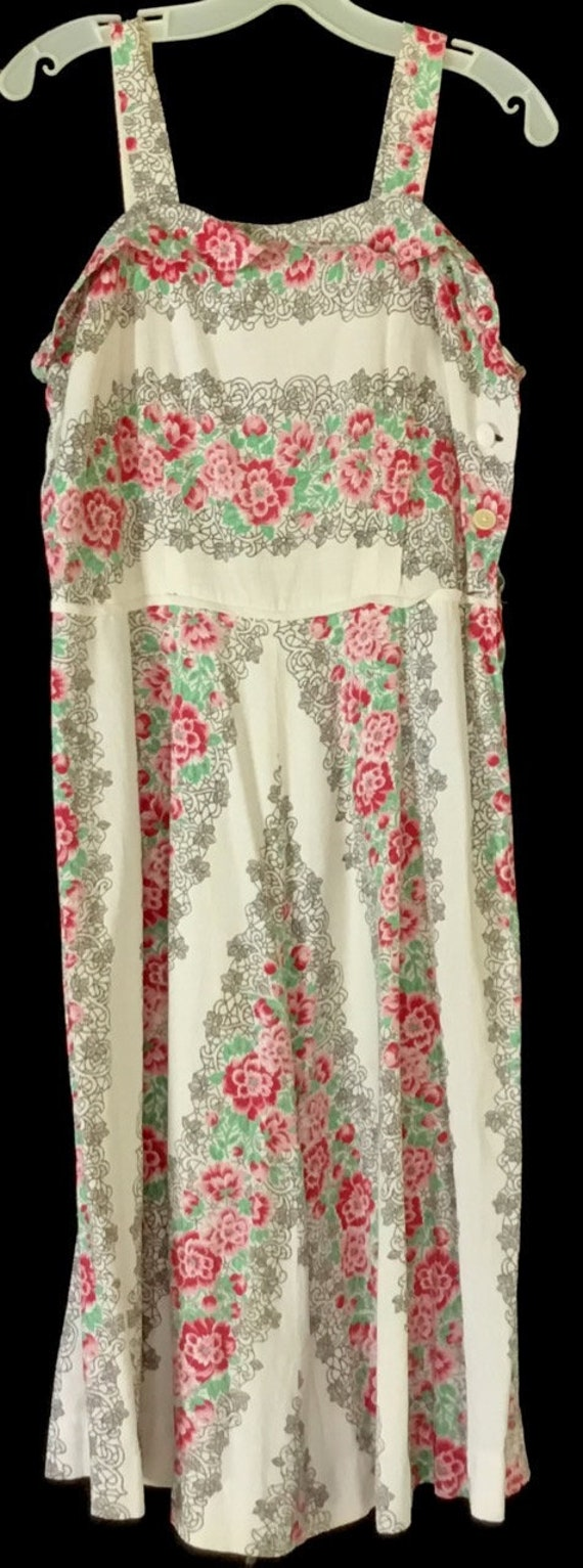Vintage 1940s Floral Sundress