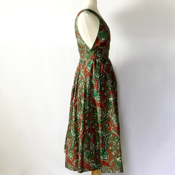 Vintage 1950s Paisley Halter Dress - image 3
