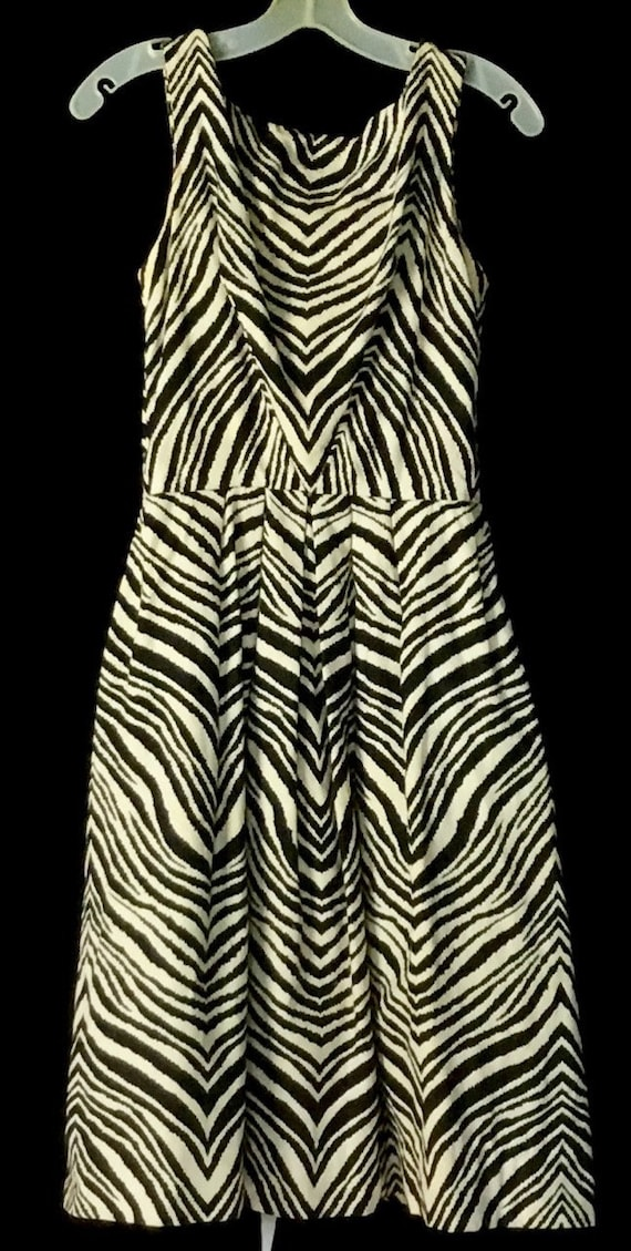 Vintage 1950s Gigi Young Zebra Print Dress