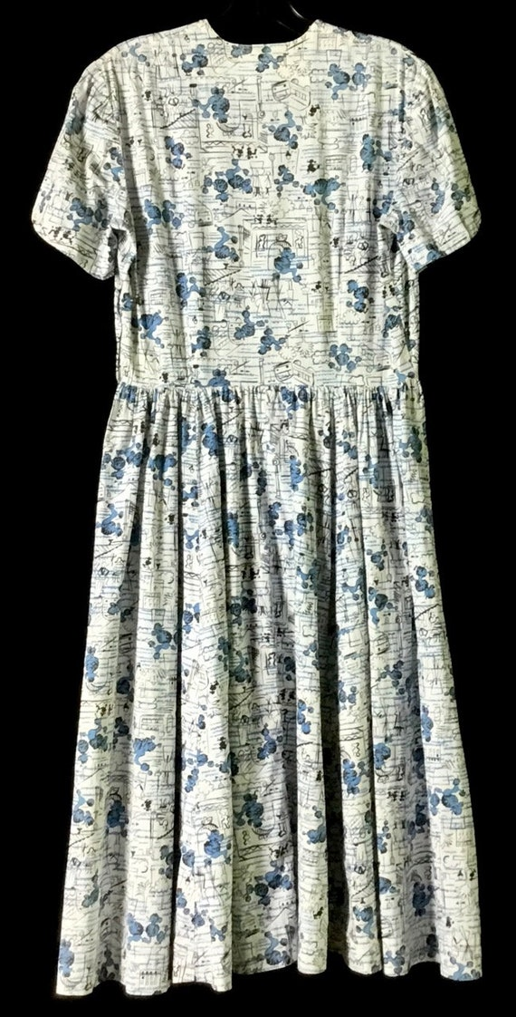 Vintage 1950s Poodle-Paris Print Dress - image 4