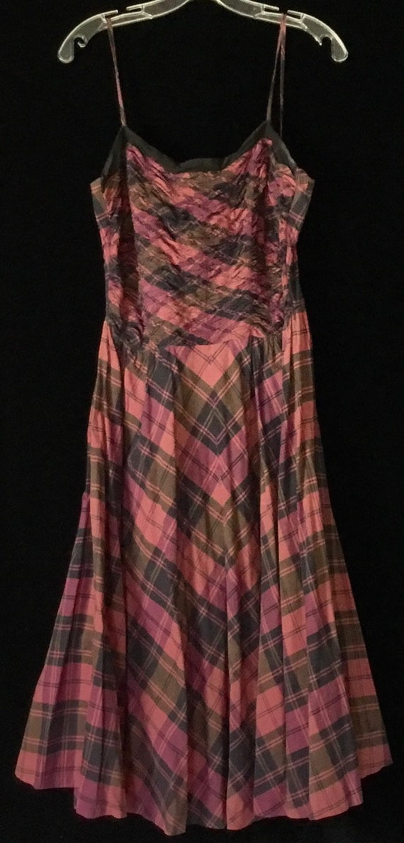 Vintage 1950s Plaid Sundress