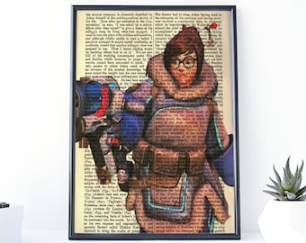 Overwatch Mei, Video Game Wall Art, Mei Overwatch, Over Watch, Overwatch Printable, Overwatch Decor, Mei Poster, Overwatch Posters