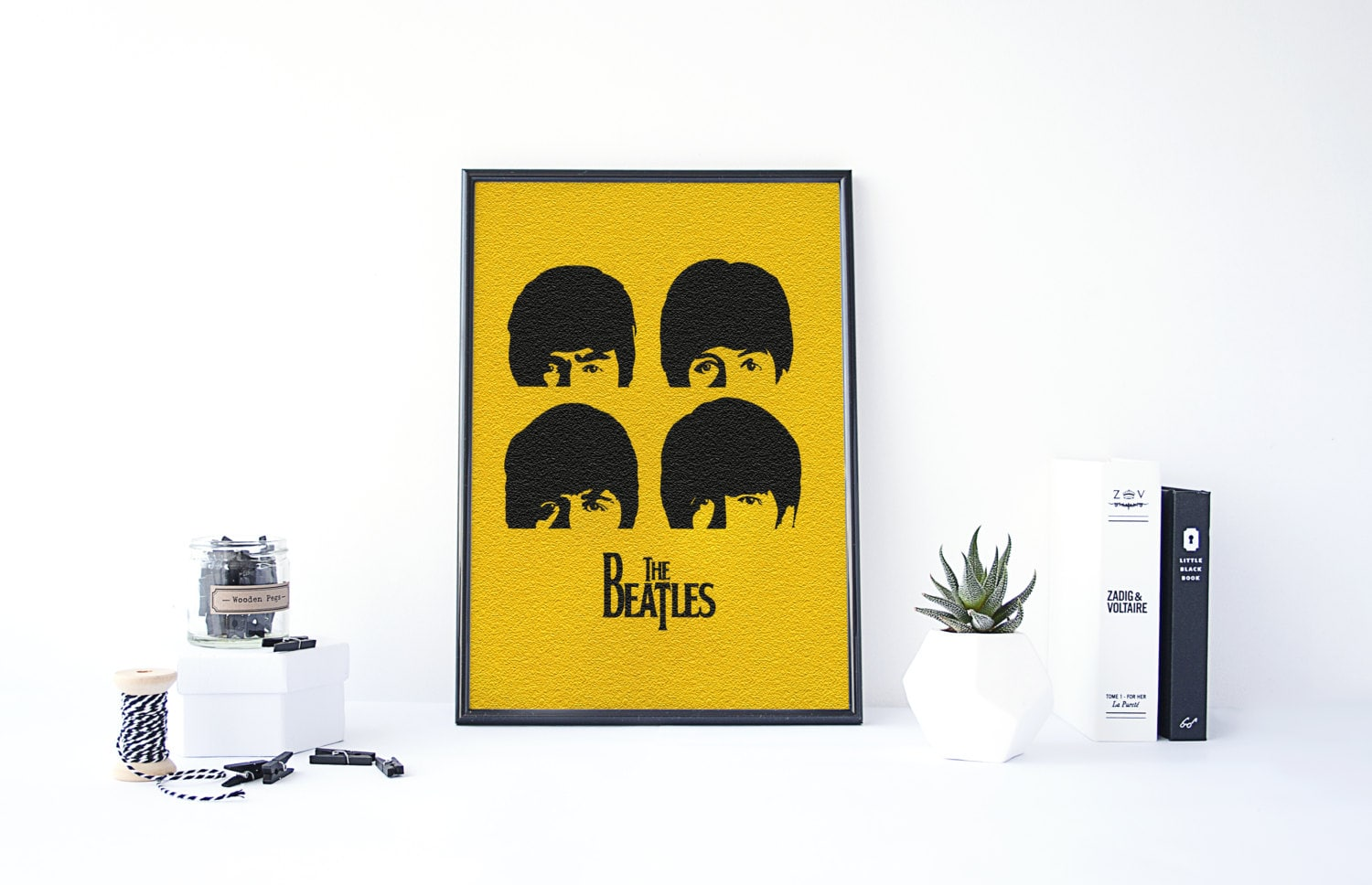 The Beatles Poster The Beatles Wall Art Beatles Art Living | Etsy