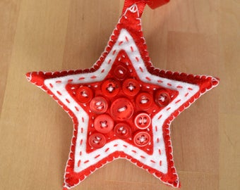 Decorative Star with Button Detail