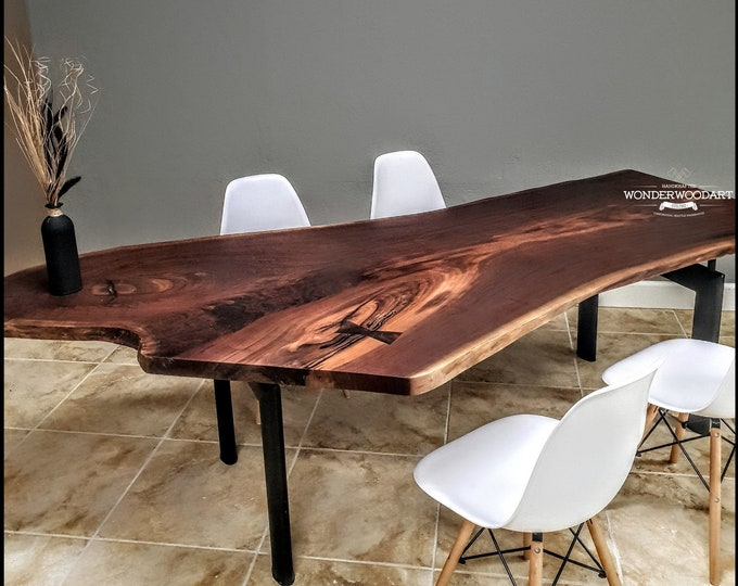 "Live Edge Walnut dining table 102""x46"""