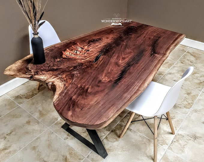 For CUSTOM ORDER ONLY! Live Edge Walnut dine table, Office desk