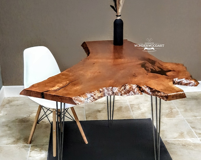 For CUSTOM ORDER ONLY! Live Edge Big leaf Maple table, Office desk