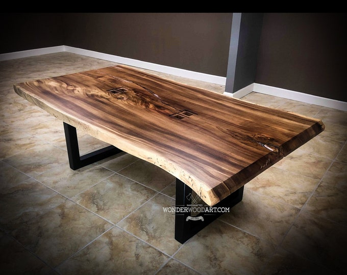 For CUSTOM ORDER Only! Live Edge Parota dining/conference table