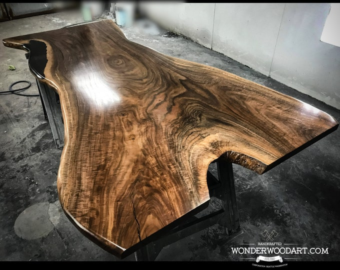 Live Edge Claro Walnut dining table
