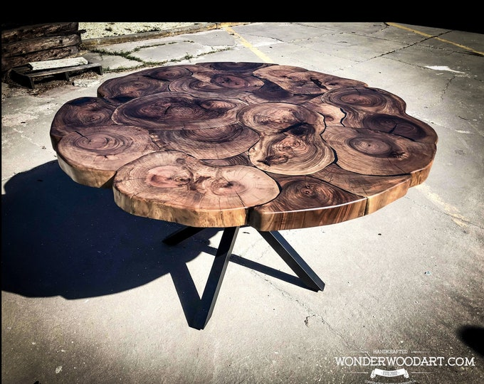 For CUSTOM ORDER ONLY! Live Edge Dining table