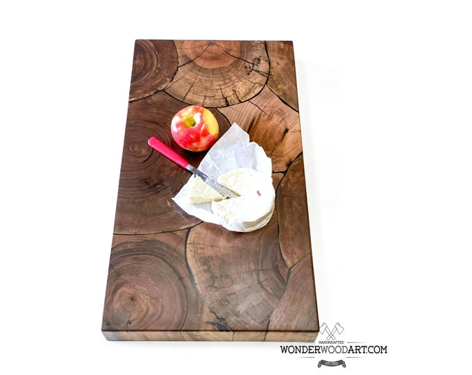 Live Edge Claro Walnut Cookie cutting board, butcher block, charcuterie board, chopping board