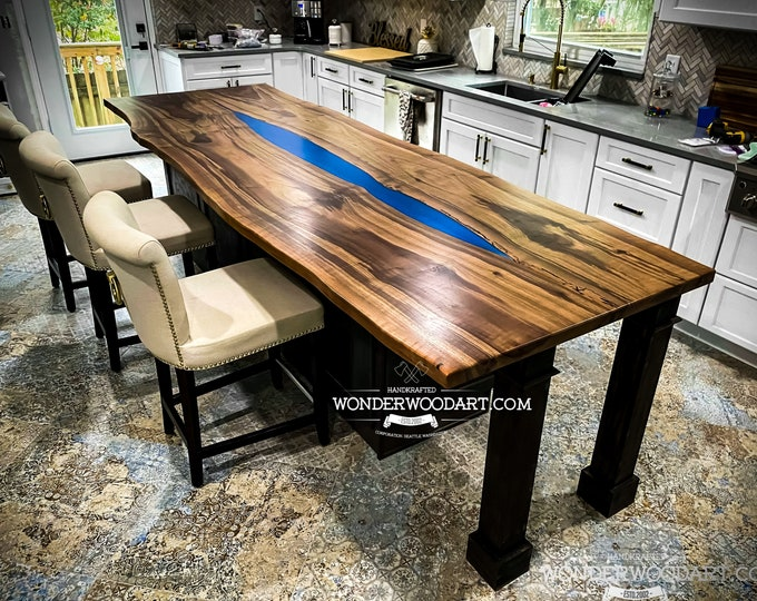 For CUSTOM ORDER Only! Live Edge Walnut dining table
