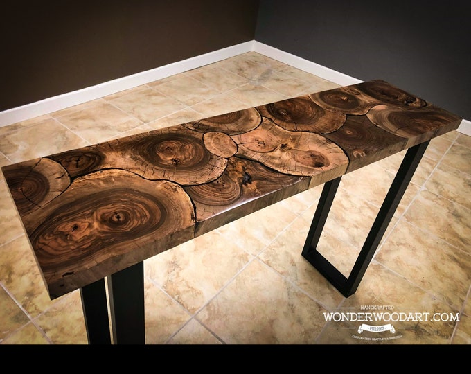 Live Edge Claro Walnut Cookie table