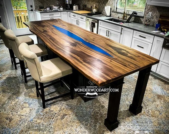 Live Edge Walnut dining table, kitchen island, countertop