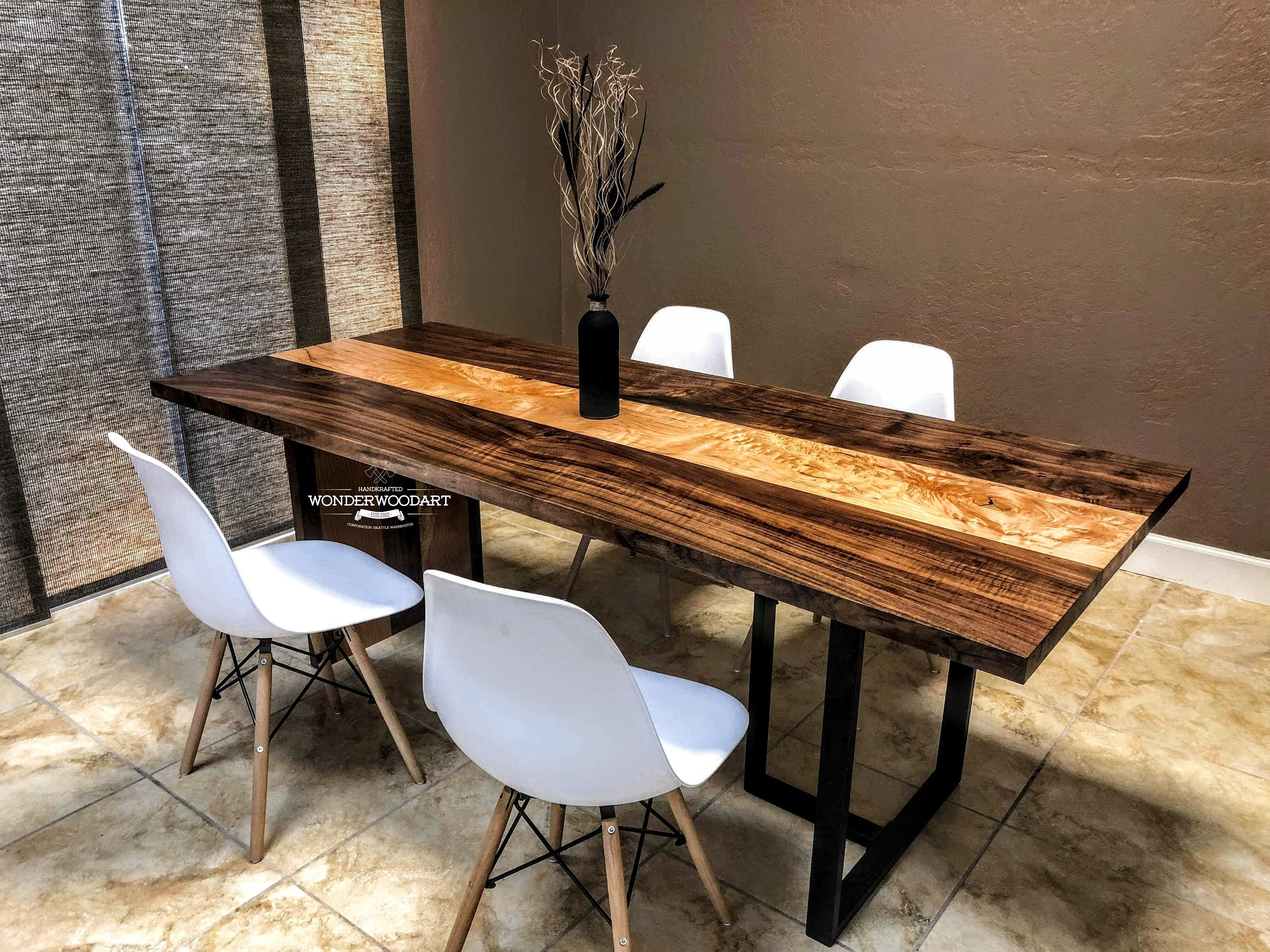 Live Edge dining table 84x35, Maple table, Walnut table, dine table