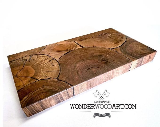"Live Edge Claro Walnut Cookie 12""x24"" (or custom size) cutting board, butcher block, charcuterie board, chopping board"