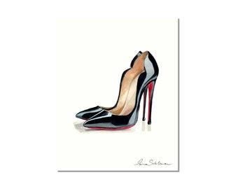 0877448a5a691 Louboutins shoes, Louboutins heels, Louboutins wall art, Louboutins print, Christian  Louboutin shoes, Christian Louboutin heels Illustration