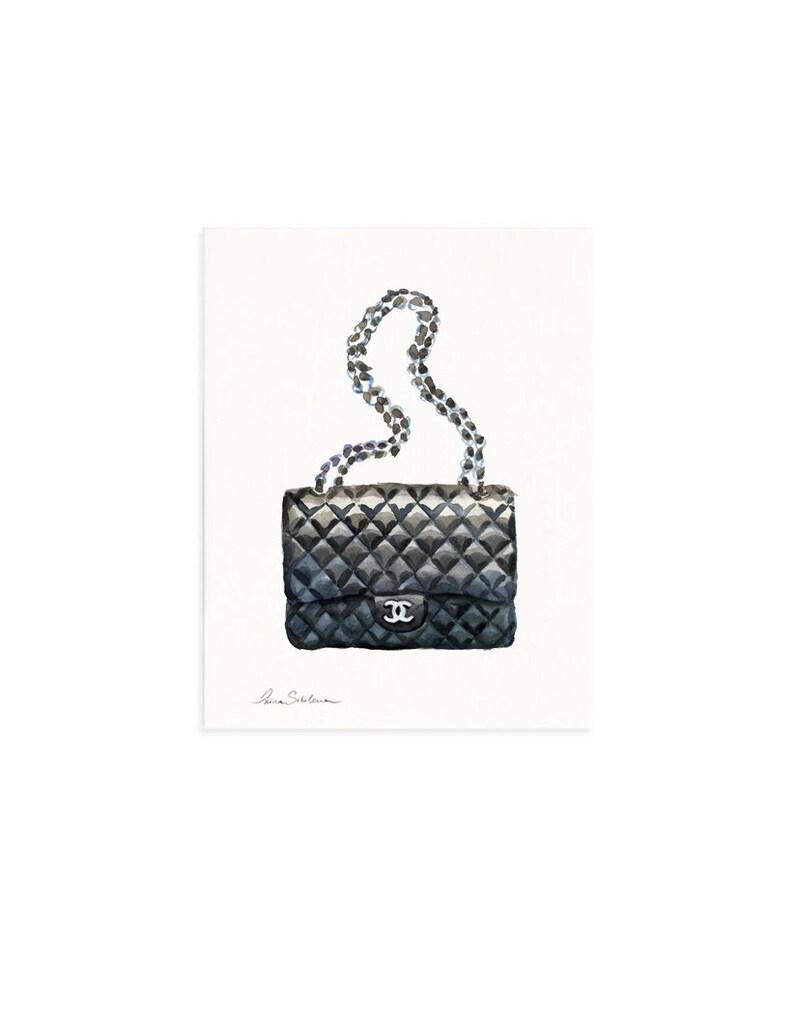 f5861a71916f CHANEL BAG Fashion Illustration Coco Chanel Chanel bags   Etsy