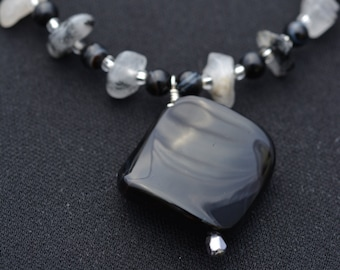 Black and Abstract Necklace