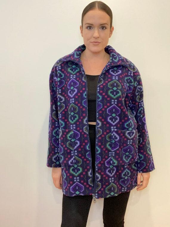 Navaho fleece printed jacket, vintage jacket, fle… - image 1