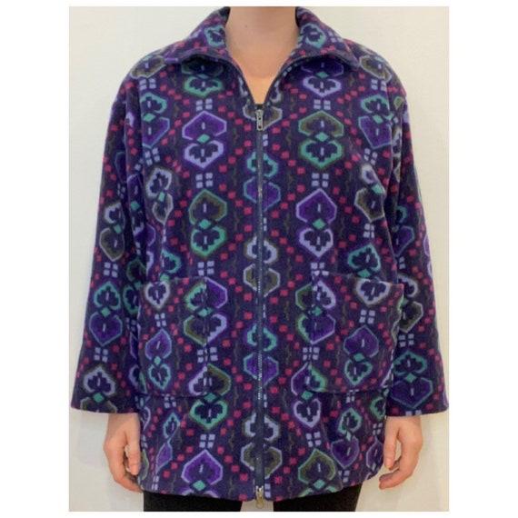Navaho fleece printed jacket, vintage jacket, fle… - image 2