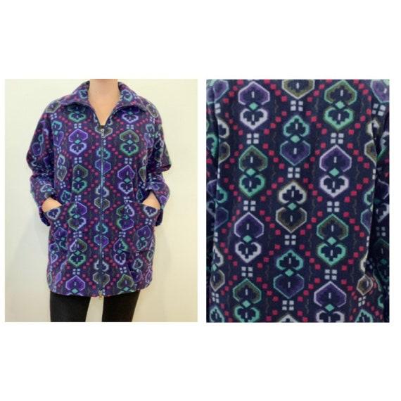 Navaho fleece printed jacket, vintage jacket, fle… - image 5
