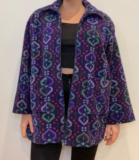 Navaho fleece printed jacket, vintage jacket, fle… - image 3