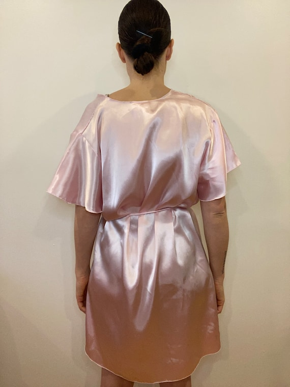Vintage Dressing robe, satin robe, night gown, vi… - image 10