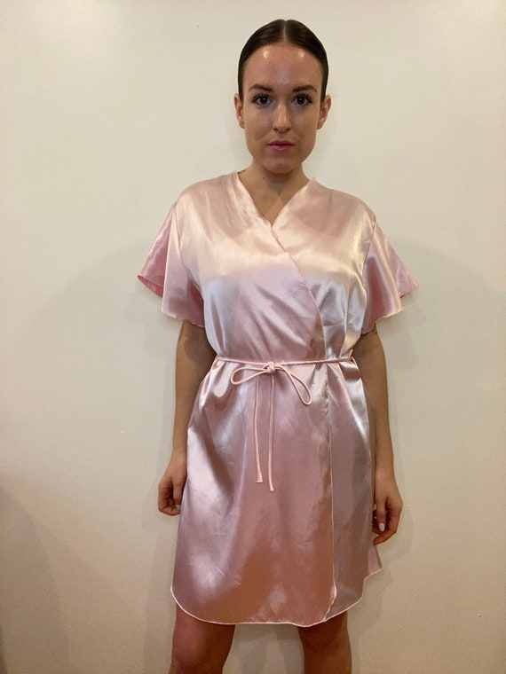 Vintage Dressing robe, satin robe, night gown, vi… - image 5