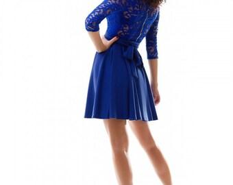 Cobalt blue dress / Bridesmade dress / Jersey dress / Autumn dress , wedding dresses , cobalt blue wedding