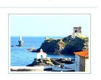 Card - Hora.. the capital  of Andros Island
