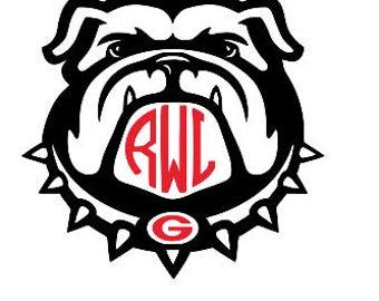 Georgia Bulldogs Decal, Georgia Bulldogs Yeti Decal, Georgia Bulldogs Monogram, UGA Decal, Georgia Bulldogs Coffee Mug Decal, Phone Decal