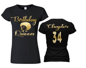 Birthday Queen Shirt, Chapter...Birthday Shirt,Birthday Shirt, Adult Birthday Shirt, Women's Custom Shirt,Birthday Shirt