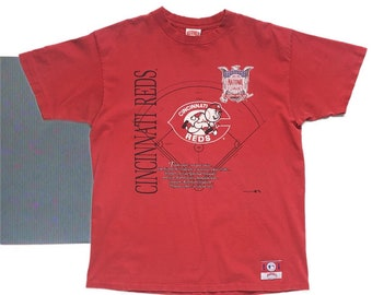 421596f29ea Vintage Cincinnati Reds Baseball Single Stitch T-shirt