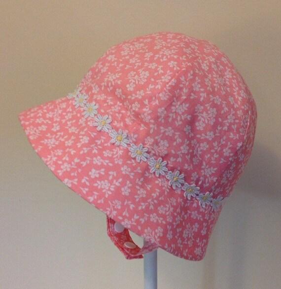 Baby Sun Hat Baby Girl Hat Baby Girl Sun Hat Chin Strap  bf8a115147a7