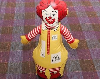 "Ronald McDonald 12"" Inflatable Bop Bag Figure Blow Up Toy"