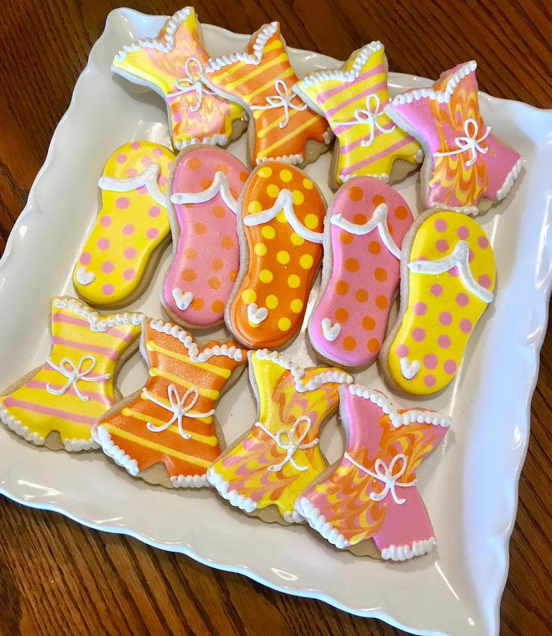 27633c3a898ed LARGE Flip Flop Cookies Sandal Cookies Beach Cookies