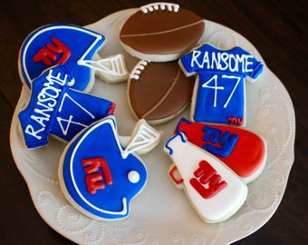 Football Sugar Cookies - Sports Cookies - Team Cookies - NFL Cookies - Pro Cookies - Birthday Cookies - Tail gate Cookies - 1 Dozen!
