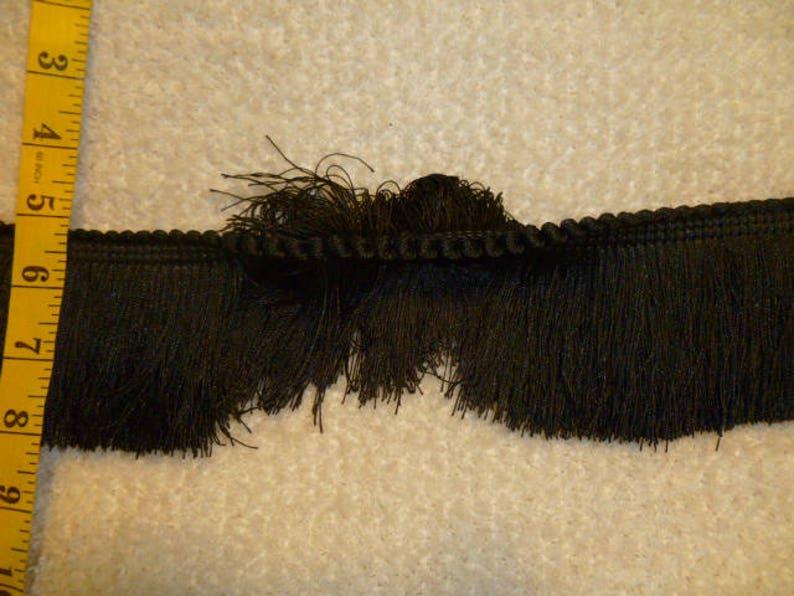 Black Brush Fringe 3 FRB-77B  25 Yards