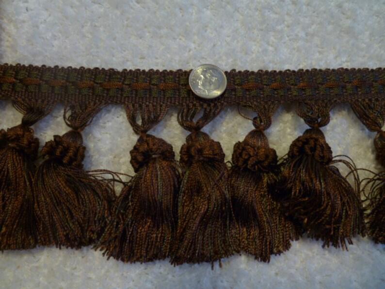 3 Tassel Fringe Chocolate  TSFR-04456-06-A  12 Yards