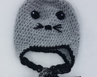 Baby Seal Hat-FREE SHIPPING-All Sizes Available