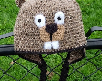 Beaver Crochet Hat -FREE SHIPPING!- Multiple Sizes Available 919170195ff