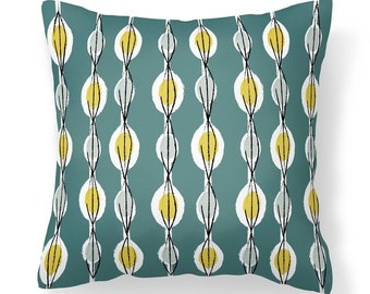 Fifties Abstract - Cushion with Feather Filler
