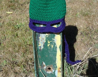 Crochet ninja hat with mask (made to order)