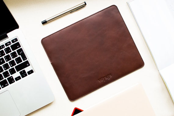 unique mouse pad leather mouse pad leather mouse mat slim etsy